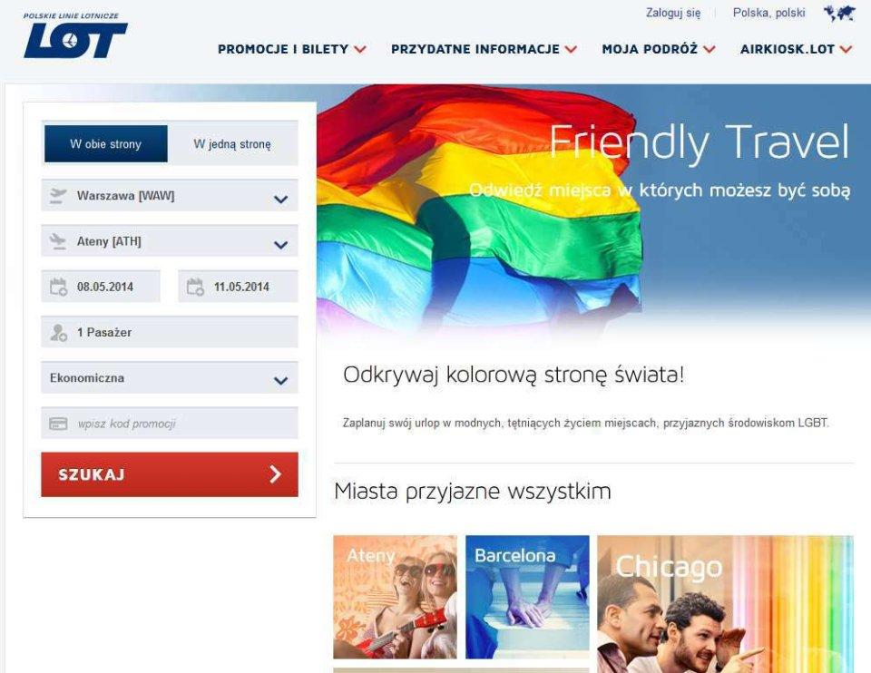 Tak jeszcze w czwartek wyglądała strona Polskich Linii Lotniczych LOT, na której można było znaleźć informacje o lotach do