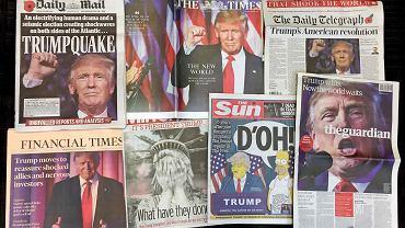 Czołówki czwartkowych gazet po zwycięstwie Trumpa