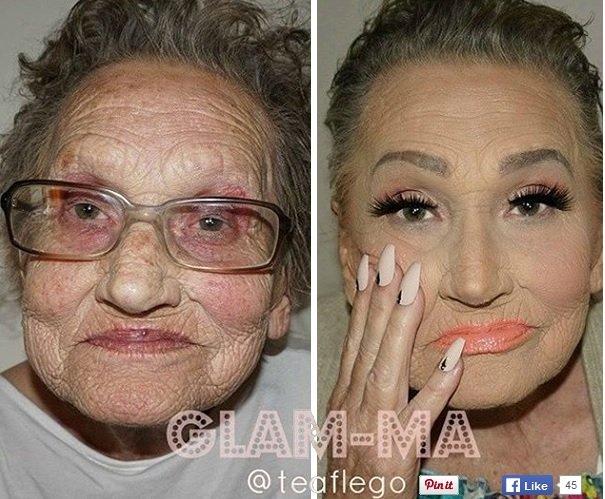 Czy 80-latce wypada się malować?