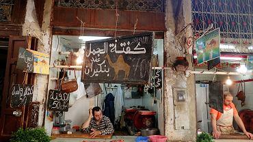 Na marokańskich targach kupisz mięso wielbłądzie.