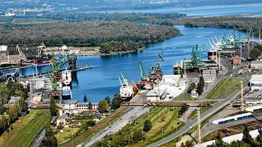 Port w Szczecinie. Basen Górniczy i Przekop Mieleński