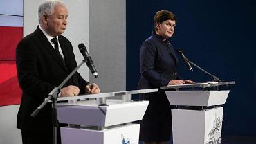 Jarosław Kaczyński i Beata Szydło ogłaszają skład rządu PiS