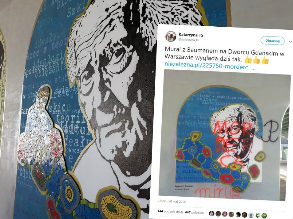 Zdewastowali mural