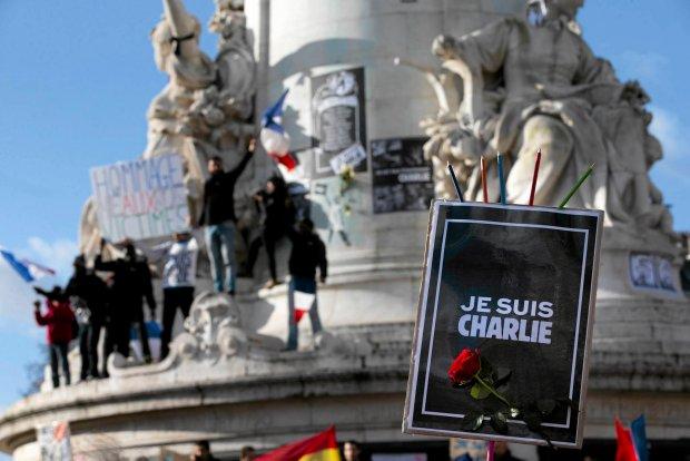 Marsz solidarno�ci po zamachach w Pary�u