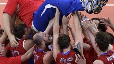 Władymir Alekno po zdobyciu przez Rosję mistrzostwa olimpijskiego w Londynie