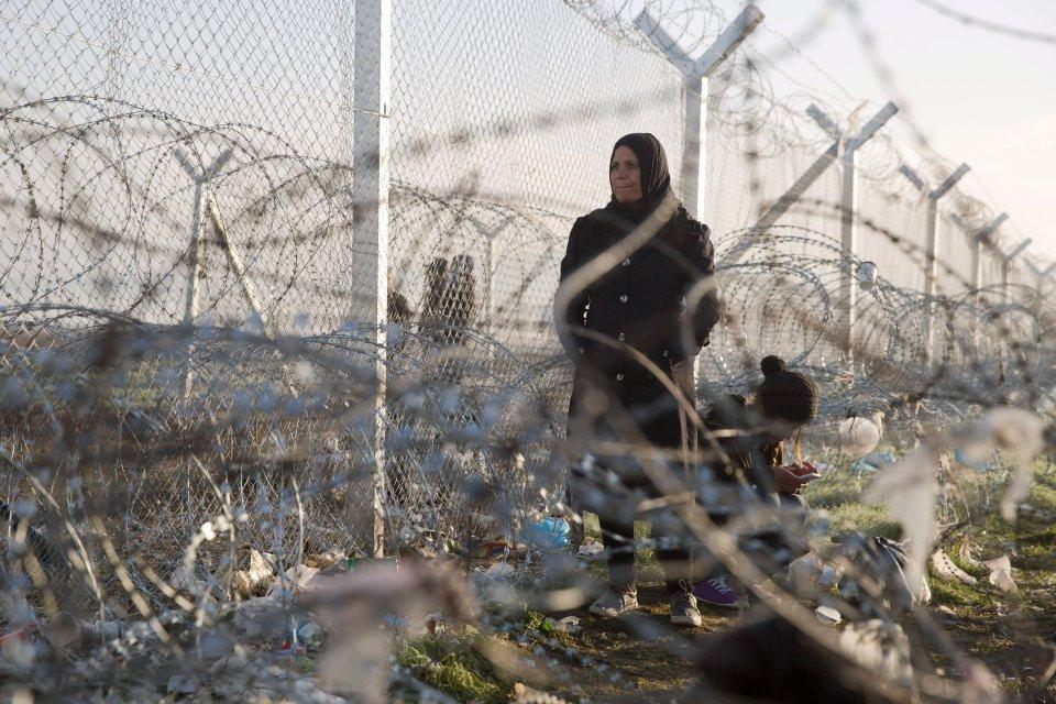 Uchodźcy na granicy Grecji i Macedonii