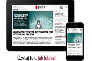 Gazeta Wyborcza na iPadzie i iPhonie