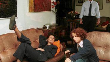 'Klan', listopad 1997. Agnieszka Kotulanka, Kaja Paschalska i Tomasz Stockinger