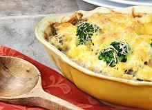 Zapiekanka ryżowa z brokułem i pieczarkami - ugotuj