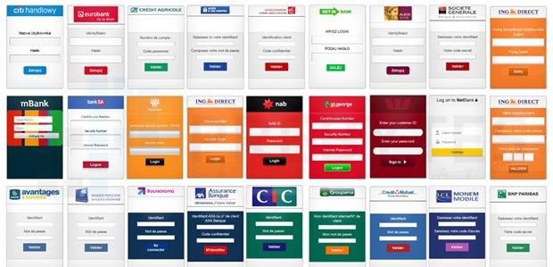 Lista banków atakowanych przez wirus