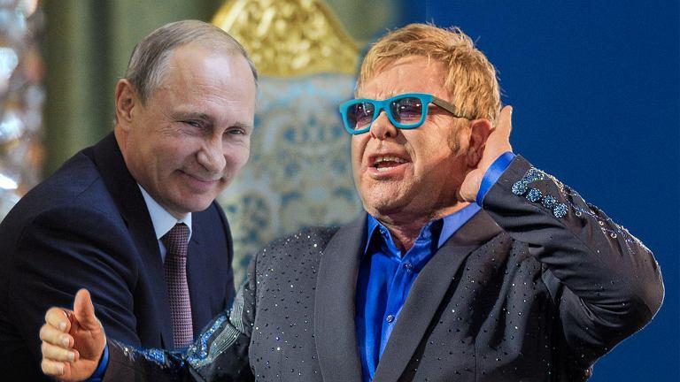 Władimir Putin i Elton John