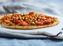 Pizza z hummusem - ugotuj