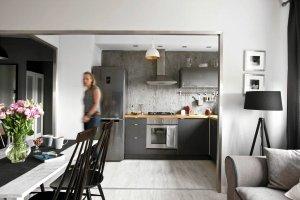 Beton w kuchni - wnętrzarski hit