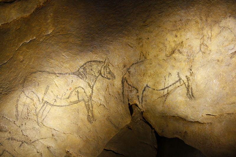 Malowidła naskalne w baskijskiej jaskini Ekain