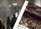 Kolonia w Sylwestra i transparent polskich kibiców (fot. Markus  Boehm/Associated Press/Marta Smolańska/Twitter)