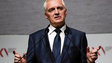 Minister nauki i szkolnictwa wyższego w rządzie PiS Jarosław Gowin podczas Narodowego Kongresu Nauki. Kraków, 20 września 2017