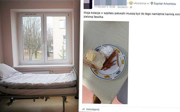 Posi�ek w jednym ze szczeci�skich szpitali