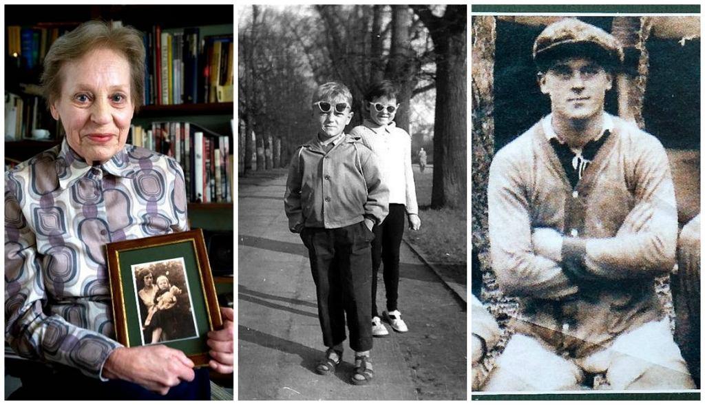 Od lewej: Mama Donalda Tuska, Ewa/Rodzeństwo Sonia i Donald, Sopot, 1961 r./Dziadek Donalda Tuska od strony mamy, Franciszek Dawidowski (Fot. Dominik Sadowski / AG)