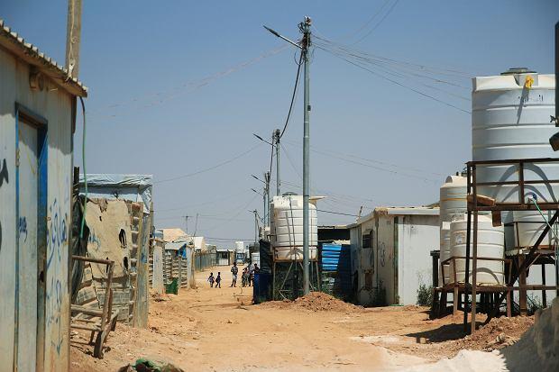 Obóz Zaatari na północy Jordanii