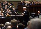 Jarosław Kaczyński w Sejmie podczas debaty ws. uchodźców