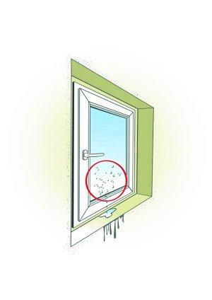 Skraplanie wody na oknie