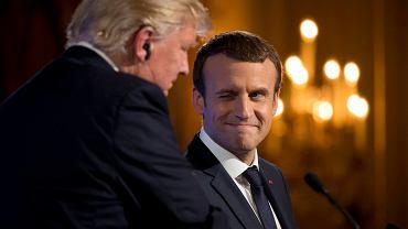 Macron z Trumpem w Pałacu Elizejskim