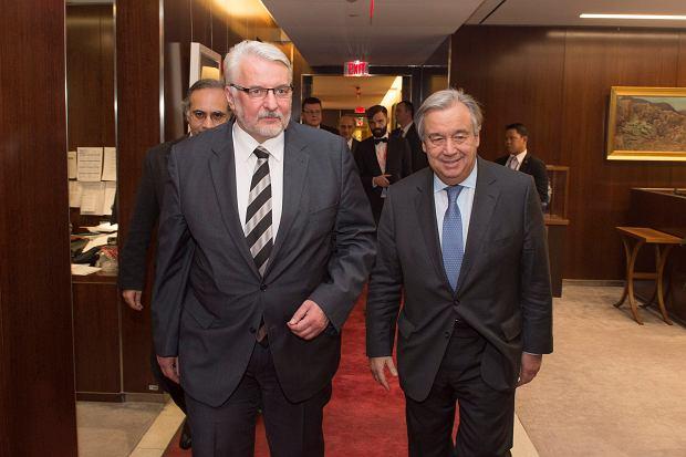 Waszczykowski wzywa w Nowym Jorku ONZ do promowania dobrych standardów rządzenia