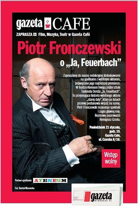 Piotr Fronczewski na spotkaniu w Gazeta Cafe