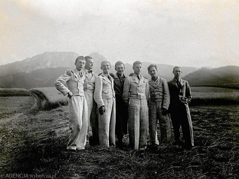 Stefan Andrzej Borsukiewicz z przyjaciółmi w Zakopanem, 1938 rok