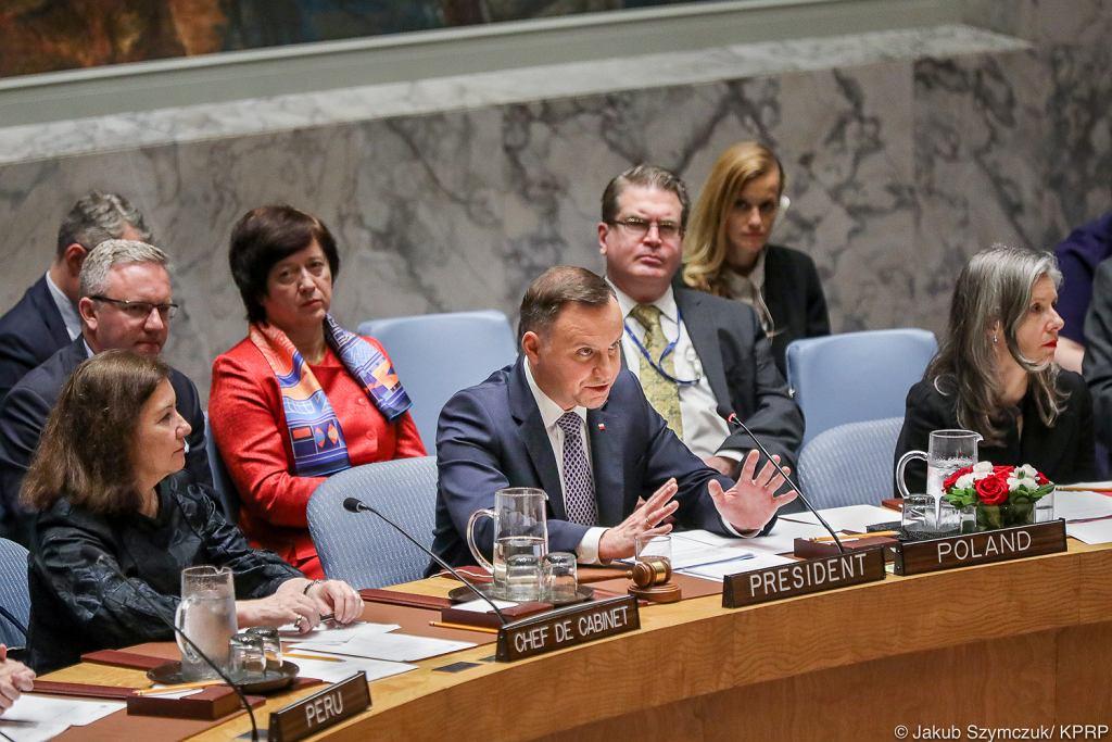 Prezydent Andrzej Duda na Radzie Bezpieczeństwa ONZ