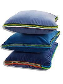 """Zestaw """"3 kolory niebieskie"""" aksamitnych poduszek folk glamour"""