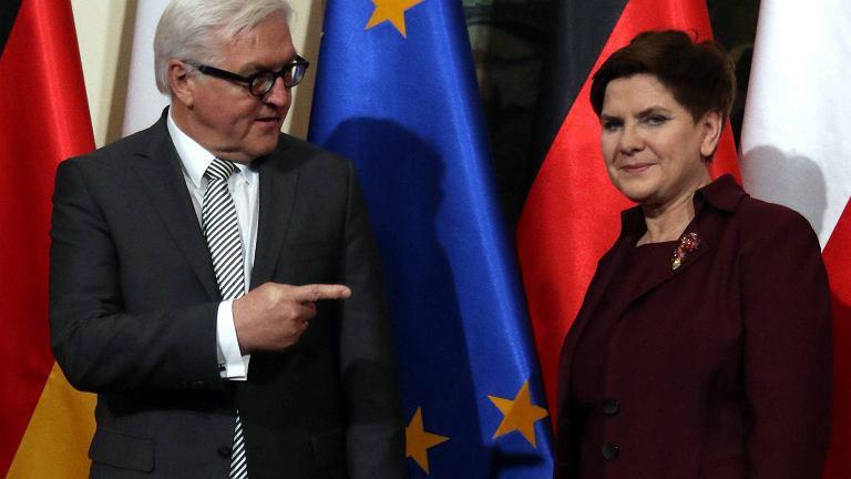 Beata Szydło i Frank Walter Steinmeier