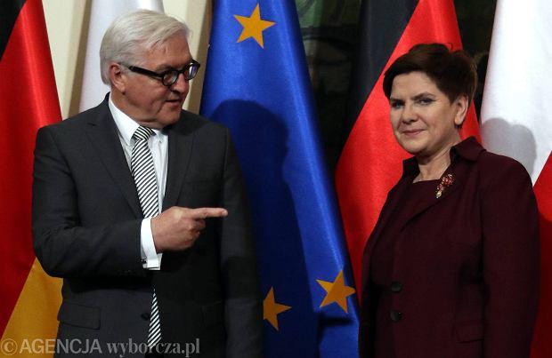 Beata Szyd�o i Frank Walter Steinmeier