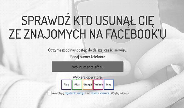 Ta strona ma sprawdzić kto usunął nas na Facebooku