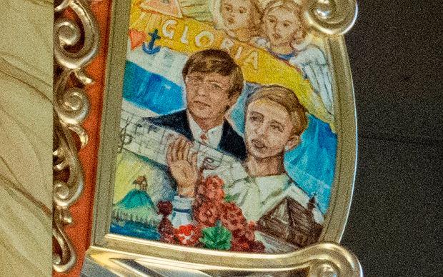 Piotr Czarnynoga wraz z żoną. Wizerunki na organach