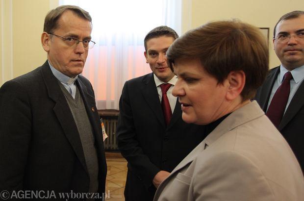 Ksiądz Dariusz Oko podczas posiedzenia Parlamentarnego Zespołu ds Przeciwdziałania Ateizacji Polski