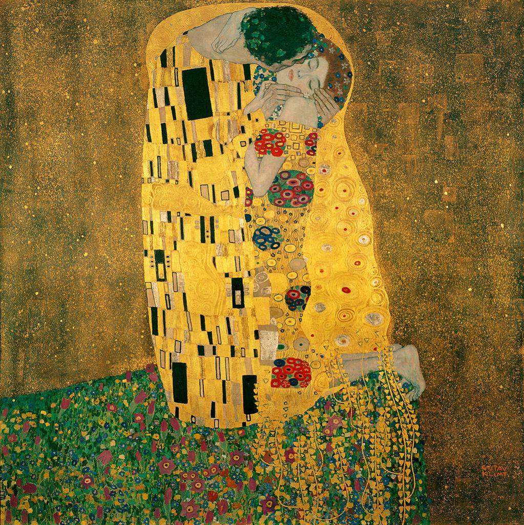 Gustav Klimt. Pocałunek / Wikimedia commons