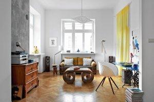 Mieszkanie 56 m kw. w Warszawie. Stylowa mieszanka