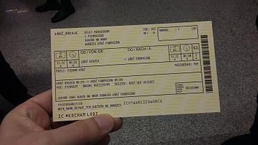 Specjalny bilet na przejazd pierwszym pociągiem na dworzec Łódź Fabryczna (zdjęcie ilustracyjne)