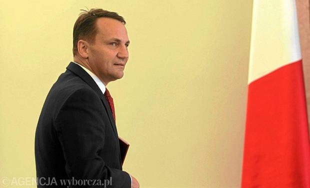 Rados�aw Sikorski, szef MSZ