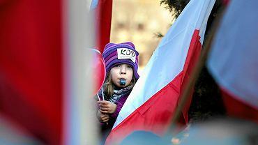 Manifestantka z Katowic
