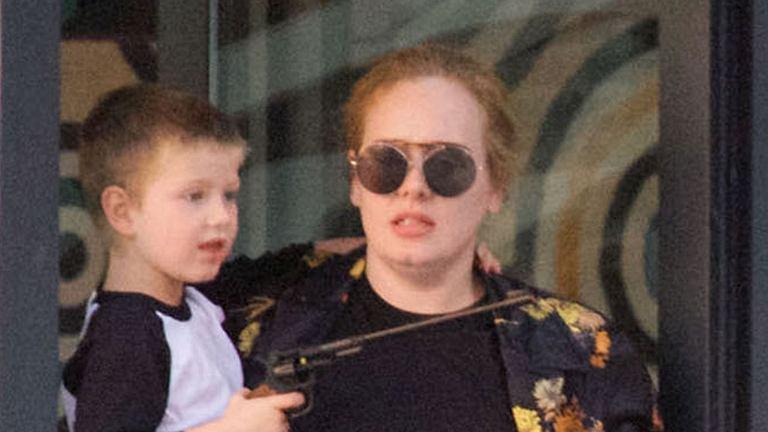Adele i jej syn Angelo