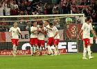 Mecz towarzyski Polska - Irlandia. Damian Szymański (drugi z lewej)
