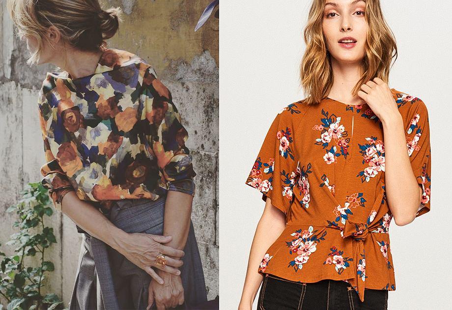 0145c84fea17 Bluzka w kwiaty  piękne modele do jesiennych stylizacji