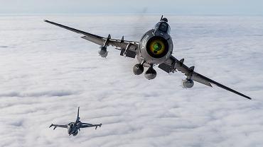 Polski Su-22 i F-16
