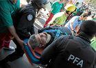 Wypadek na stacji kolejowej w Buenos Aires. 80 os�b rannych