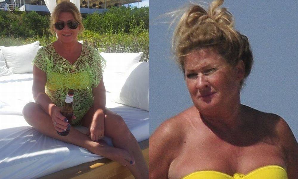Niedawno Beata Kozidrak pochwaliła się na Facebooku zdjęciem w bikini, ale niewiele było na nim widać. Jak się okazuje, gwiazdę na wakacjach sfotografowali paparazzi. Korzystała z uroków lata i opalała się na plaży w Juracie. Wokalistce towarzyszył mąż Andrzej Pietras, młodsza córka, 21-letnia Agata Pietras i 4-letni wnuczek, który jest synem starszej córki, Katarzyny Pietras. Kozidrak jest aktywną babcią - z wnuczkiem grała w piłkę i kąpała się w morzu. I jest coś jeszcze - Kozidrak zapomniała o równomiernym opalaniu. Zobaczcie, jak 54-letnia gwiazda spędzała czas na plaży i jak wygląda w bikini.