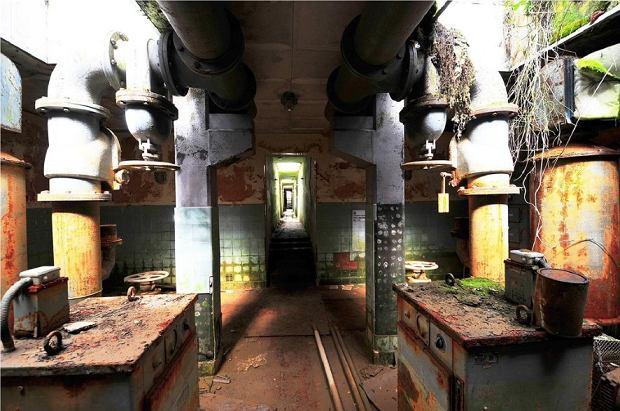 Wnętrze stacji uzdatniania wody