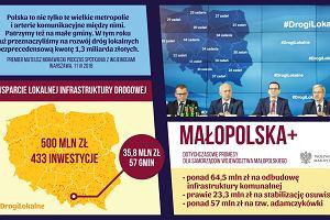 """Rząd PiS zabrał pół miliarda, teraz daje """"dodatkowe"""" 500 mln zł na drogi"""