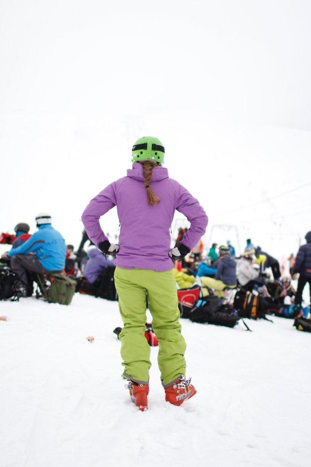 mammut, strój narciarski